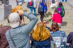 OSLO, NORWAY - 8 JULY, 2015: Tourists enjoying a Royalty Free Stock Images