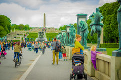 OSLO, NORWAY - 8 JULY, 2015: Tourists enjoying a Stock Photography