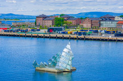 OSLO, NORWAY - 8 JULY, 2015: Triangular art Royalty Free Stock Images