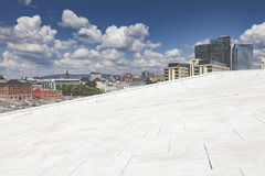 OSLO, NORWAY - JULY 09: View on a side of the National Oslo Opera House Stock Photography