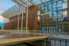 OSLO, NORWAY - 8 JULY, 2015: Waterfront buildings Stock Photography