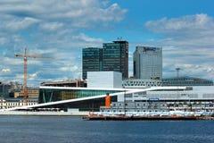 City waterfront of Oslo, Norway stock photo
