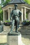 Statue of Johan Halvorsen in Oslo, Norway stock photos