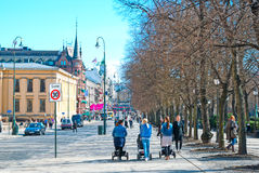 Oslo. Norway. People on Karl Johans Gate Stock Images