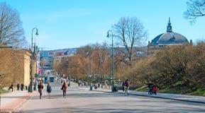 Oslo. Norway. People on Karl Johans Gate Stock Photos