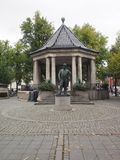 Editorial statue Johan Halverson Oslo Norway royalty free stock photo