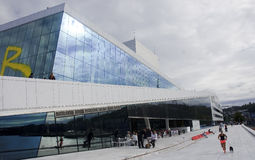 OSLO, NORWAY - SEPTEMBER 17, 2016: Oslo Opera house on 17 Septem royalty free stock images