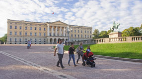 OSLO, NORWAY - SEPTEMBER 16, 2016: Oslo  The Royal Palace on 16 Royalty Free Stock Photography