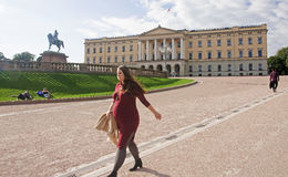 OSLO, NORWAY - SEPTEMBER 16, 2016: Oslo  The Royal Palace on 16 Royalty Free Stock Images