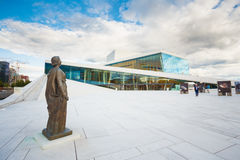 Oslo Norway. Side View Of Glass Facade Of Oslo Opera Ballet Hous Stock Photo
