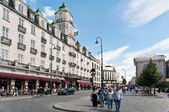 Oslo, Norway. Street in Oslo Royalty Free Stock Image