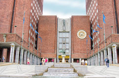 OSLO, NORWAY. Town hall on a summer day Stock Images