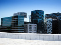 Oslo, Norway. View of office buildings in Oslo, Norway Stock Images
