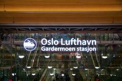 OSLO NORWEGIA, JAN, - 20th, 2017: Lufthavn Lotniskowy Gardermoen OSL jest głównym domowym lotniskiem międzynarodowym i centrum Zdjęcia Stock