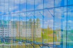 OSLO, NORWEGIA - 8 LIPIEC, 2015: Odbicie Obrazy Royalty Free