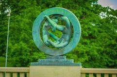OSLO, NORWEGIA - 8 LIPIEC, 2015: Różnorodna naga postać Zdjęcia Stock