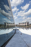 OSLO NORWEGIA, LIPIEC, - 09: Widok na stronie Krajowa Oslo opera Obrazy Royalty Free