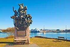 Oslo Norwegia pomnikowi żeglarzi zdjęcia royalty free