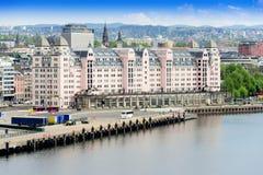 Oslo Norwegia schronienie jest jeden Oslo wielcy przyciągania zdjęcie stock