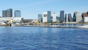 OSLO, NORWEGIA -, SIERPIEŃ 2015: barcode projekta mieszkanie w wieżowcu zbiory