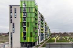 Oslo, Norwegia, 10 2017 Wrzesień - fasada budować barcode budynki Zdjęcie Royalty Free
