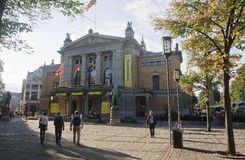 OSLO NORWEGIA, WRZESIEŃ, - 16, 2016: Oslo Nationaltheatret (N obraz stock