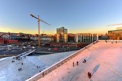 Oslo-Oper haus- Norwegen Stockfotografie