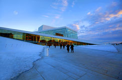 Oslo Opera house Royalty Free Stock Image