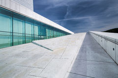 Oslo opera house with blue sky Stock Photography