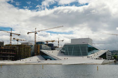 Oslo Opera House. The building is situated in the Bjorvika neigh Stock Photo