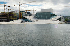 Oslo Opera House. The building is situated in the Bjorvika neigh Royalty Free Stock Photo