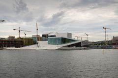 Oslo Opera House. The building is situated in the Bjorvika neigh Royalty Free Stock Images