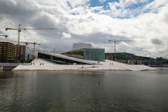 Oslo Opera House. The building is situated in the Bjorvika neigh Stock Photos
