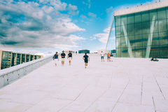 The Oslo Opera House is the home of The Norwegian National Opera Royalty Free Stock Photography