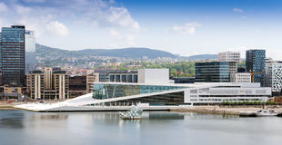 He Oslo Opera House is the home of The Norwegian National Opera Stock Image