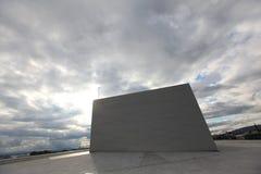 Oslo opera house, modern architecture against dram Stock Photo