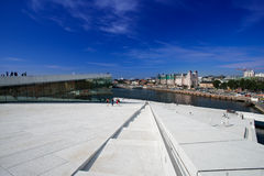Oslo Opera House panorama stock images