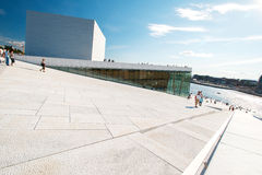 Oslo Opera House pictured with angle Royalty Free Stock Image