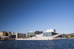 The Oslo Opera House with sky Royalty Free Stock Photo