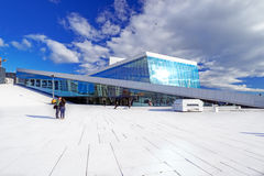 Oslo opera house at summer Royalty Free Stock Photography