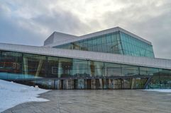 Oslo-Opernhaus stockfotos