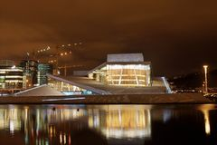 Oslo-Opernhaus Stockfotografie