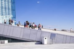 Oslo-Opernhaus Lizenzfreies Stockbild