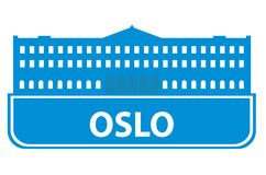 Oslo outline Stock Image