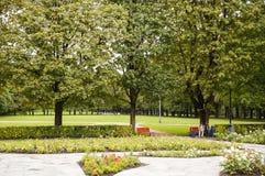 oslo parkvigeland Royaltyfri Bild