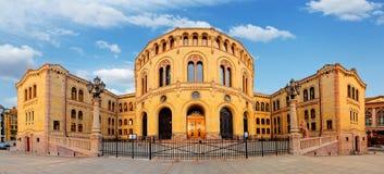 Oslo-Parlament - Panorama lizenzfreie stockfotografie