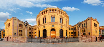 Oslo parliament - panorama Royalty Free Stock Photography