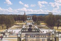 Oslo, parque de Vigeland, 2013 Primavera en Oslo, Norvegia Strets de la visión Fotografía de archivo