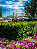 Oslo port in summer Stock Photos