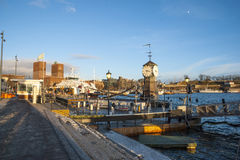 Oslo port in winter, Norway Stock Photos